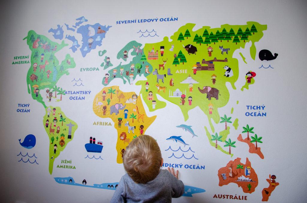 Detska Mapa Sveta Od Velkolepka Nezbytna Vybava Pokojicku